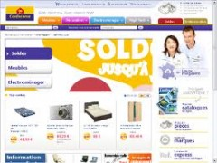 web page conforama